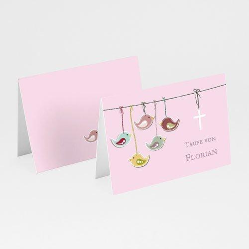Einladungskarten Taufe für Mädchen Vögelchen