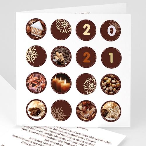 Weihnachtskarten - Kreisförmig 23101 test