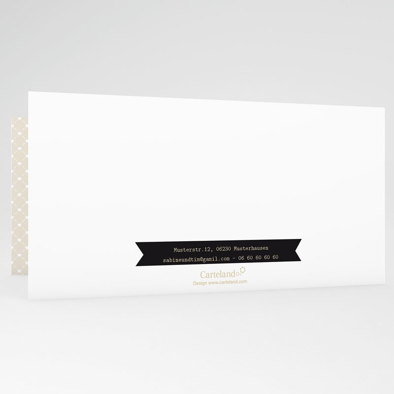 Danksagungskarten Hochzeit  Graphic Chic gratuit