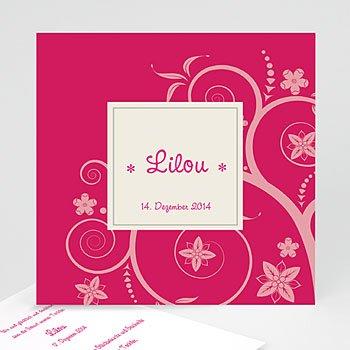 Geburtskarten für Mädchen - Babykarte Rosa - 1