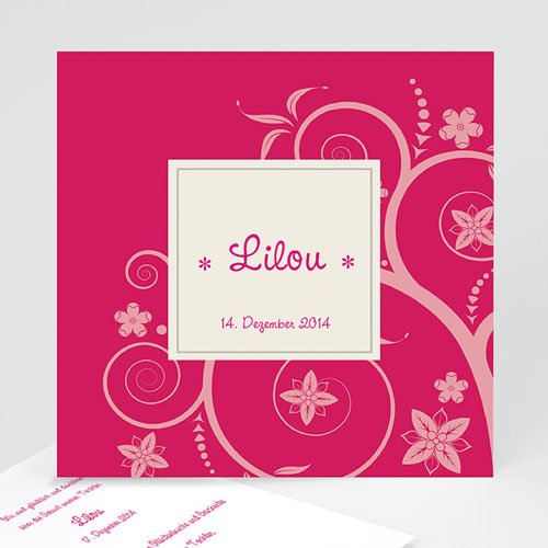 Geburtskarten für Mädchen - Rosaton 23117