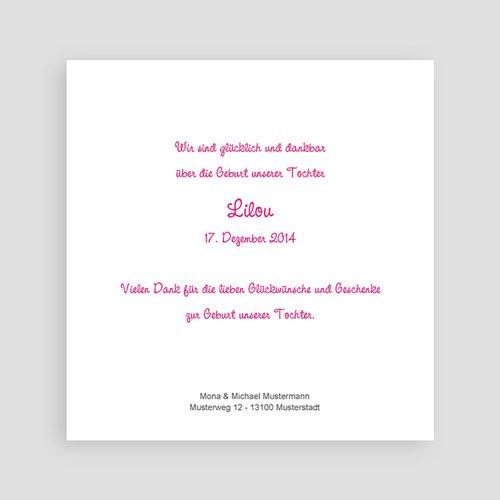 Geburtskarten für Mädchen Rosaton pas cher