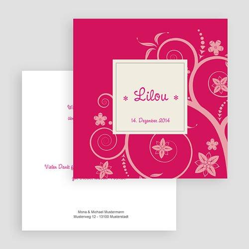 Geburtskarten für Mädchen Rosaton gratuit