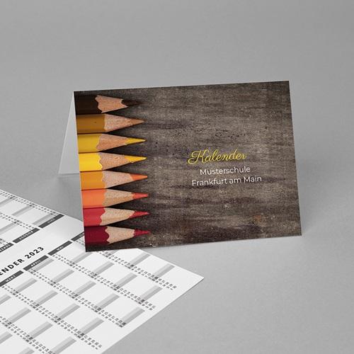 Taschenkalender Buntstifte