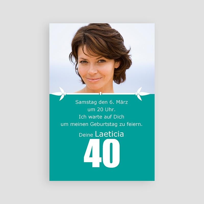 Erwachsener Einladungskarten Geburtstag 40 Jahre