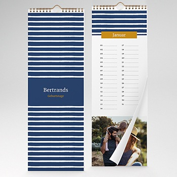 Ewiger Kalender - Marine-Look - 1