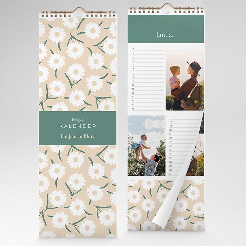 Ewiger Kalender Blumig