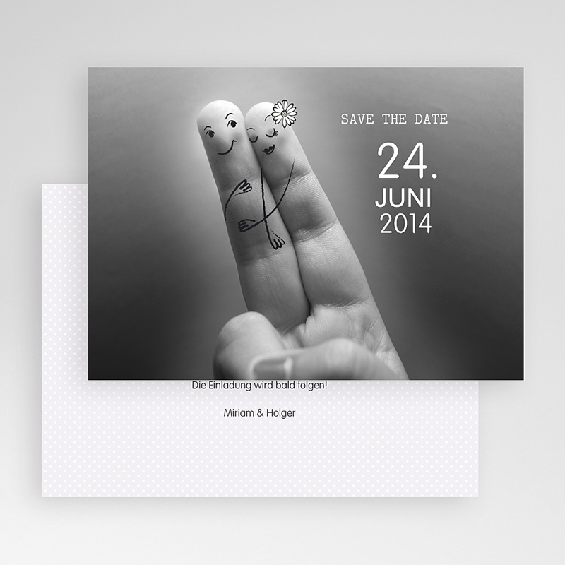 Save The Date Karten Hochzeit Verliebte gratuit