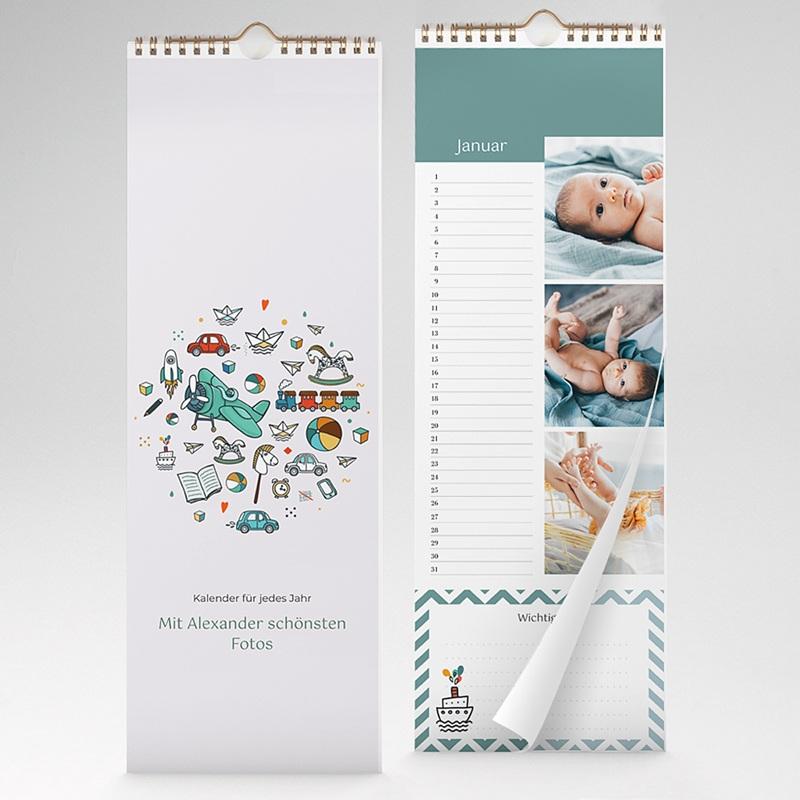 Ewiger Kalender Blau