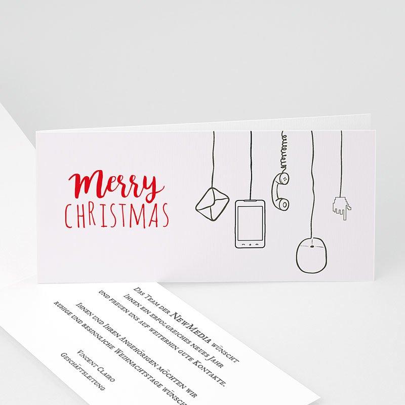 Geschäftliche Weihnachtskarten Netzwerk