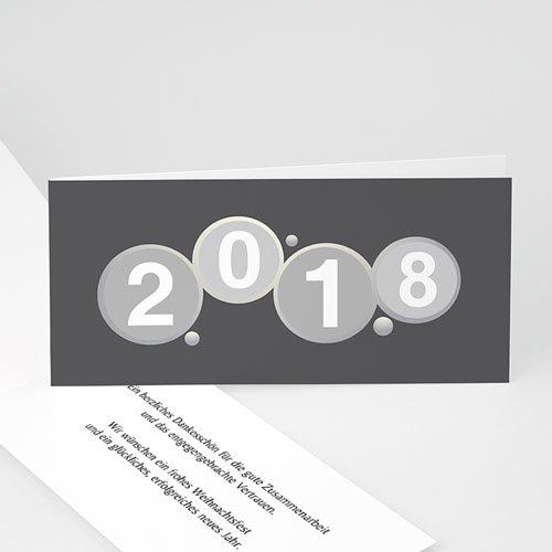 Weihnachtskarten - Glückliches Jahr 23270