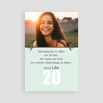 einladungskarten 20. geburtstag individuell gestalten | carteland.de, Einladungsentwurf
