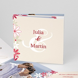 Danksagungskarten Hochzeit  - Hochzeitskarten Blumen - 1