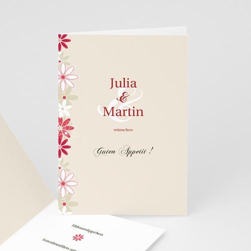Menukarten Hochzeit Flowers Carteland De