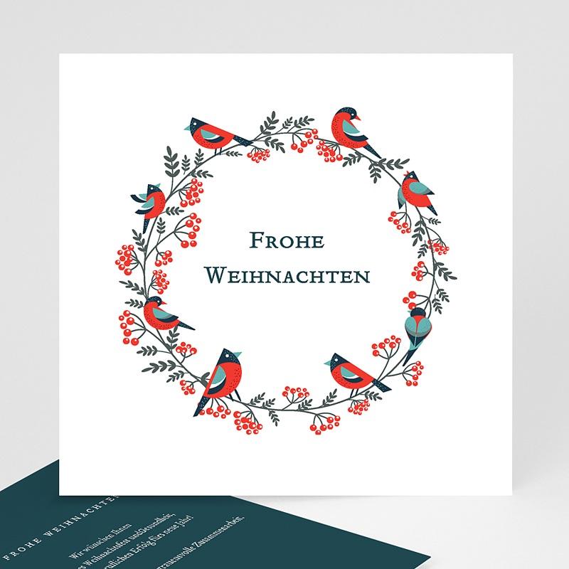 Geschäftliche Weihnachtskarten Adventskranz Grün