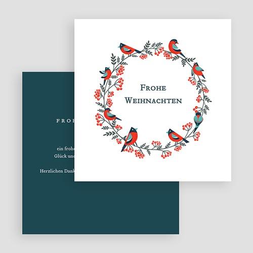 Geschäftliche Weihnachtskarten Adventskranz Grün gratuit