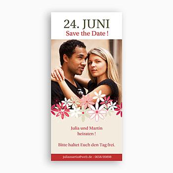 Save The Date  - Hochzeitskarten Blumen - 1