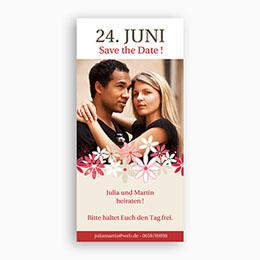 Einlegekarte Hochzeit Blumen