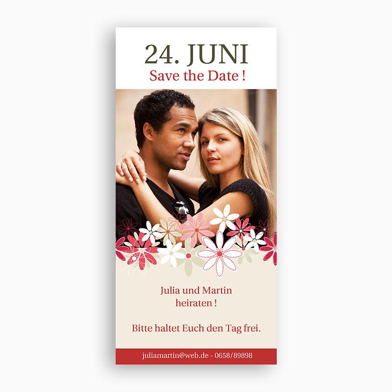 Save The Date Karten Hochzeit Blumen