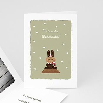 Weihnachtskarten - Weihnachtskarte braun - 1