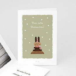Weihnachtskarte braun - 1