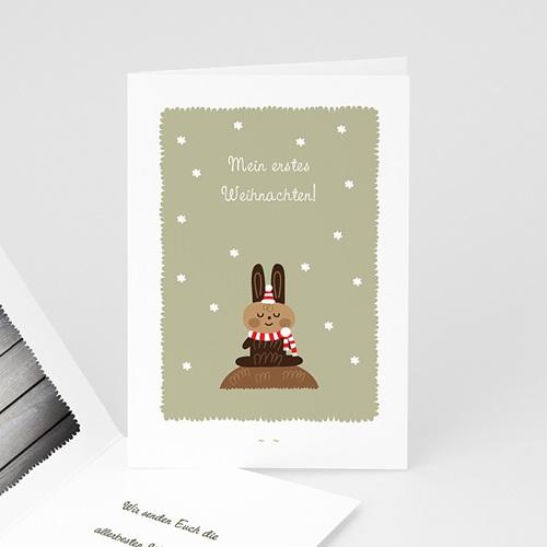 Weihnachtskarten Weihnachtshase