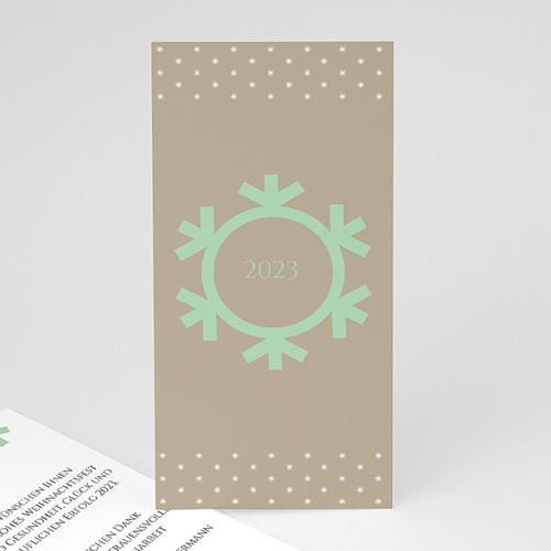 Weihnachtskarten - Schneeflocke 23502 test