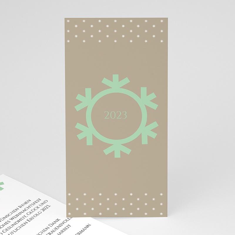 Geschäftliche Weihnachtskarten Schneeflocke