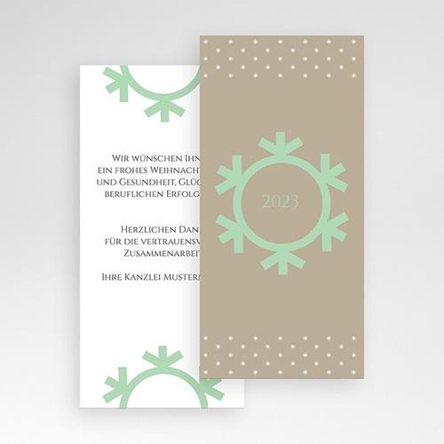 Weihnachtskarten - Schneeflocke 23503 test