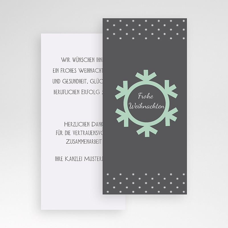Geschäftliche Weihnachtskarten Schneeflocke pas cher