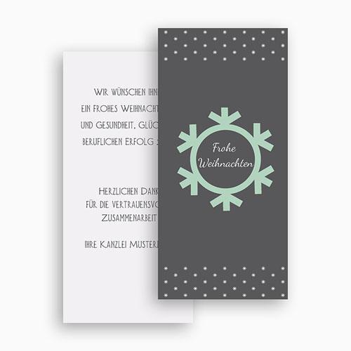 Weihnachtskarten - Schneeflocke 23504 test