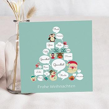 Weihnachtskarten - Arbre a bulle - 1