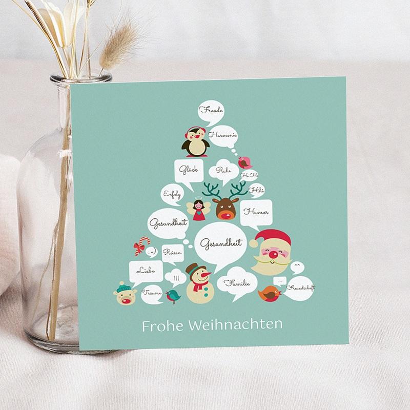 Weihnachtskarten - Wunschblasen 23524 thumb