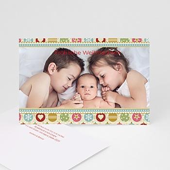 Weihnachtskarten - Bunte Kugeln - 1