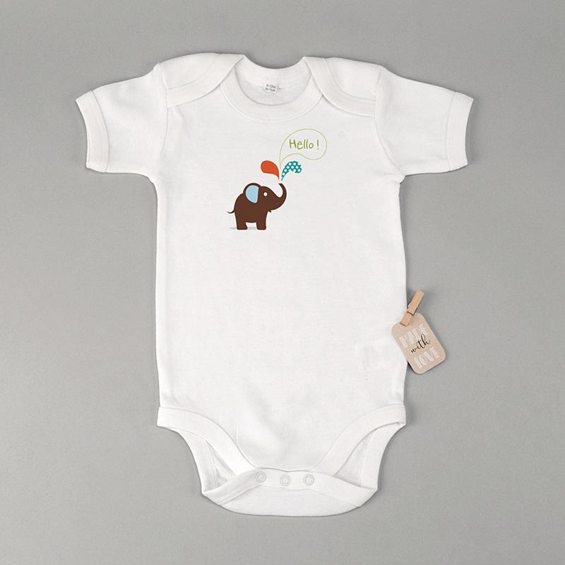 Personalisierte Baby Bodys Kleiner Elefant