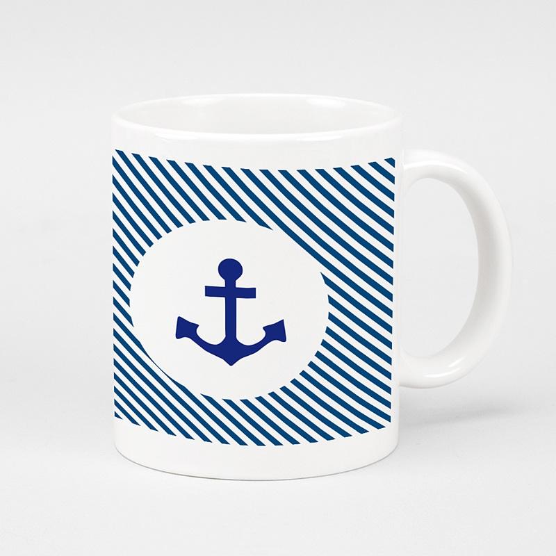 Personalisierte Fototassen Marine-Look