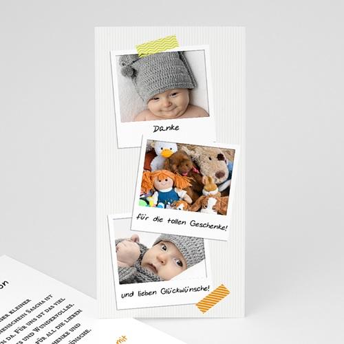 Dankeskarten Geburt für Mädchen Polaroid
