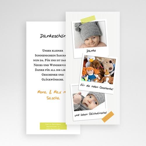 Dankeskarten Geburt für Mädchen Polaroid pas cher