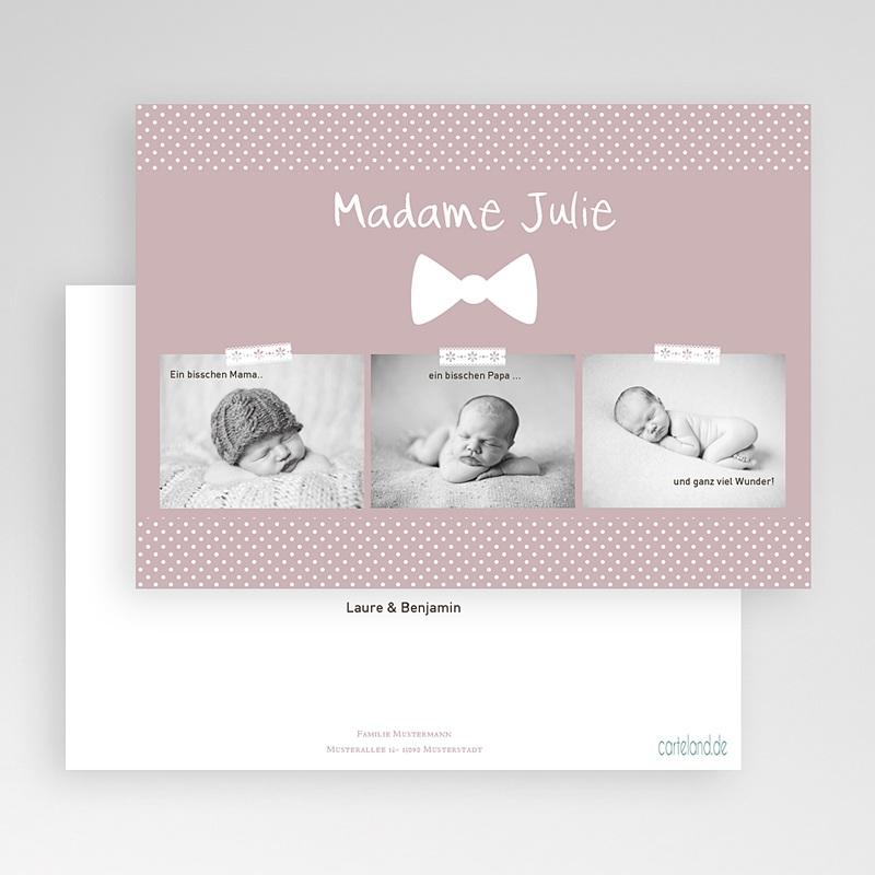 Vintage Geburtskarten Madame Baby gratuit