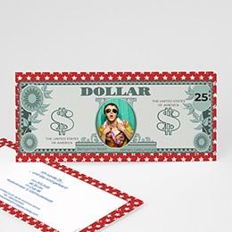 Einlegekarte Anniversaire adulte Dollar