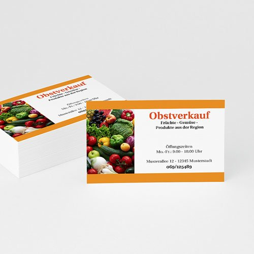 Visitenkarten - Obsthandel 2368