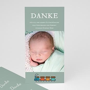 Dankeskarten Geburt Jungen - Unser Schatz - 1