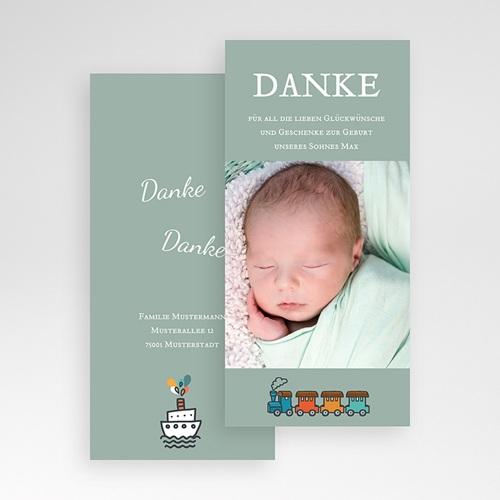 Dankeskarten Geburt für Jungen Unser Schatz pas cher