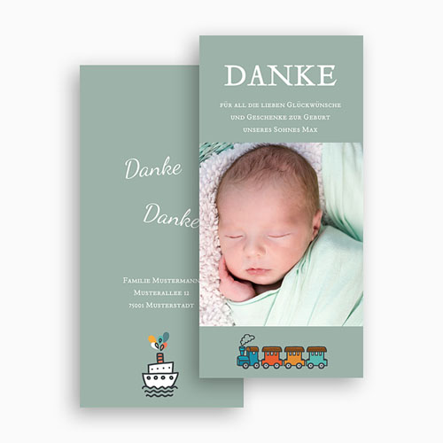 Dankeskarten Geburt Jungen - Unser Schatz 23684 preview