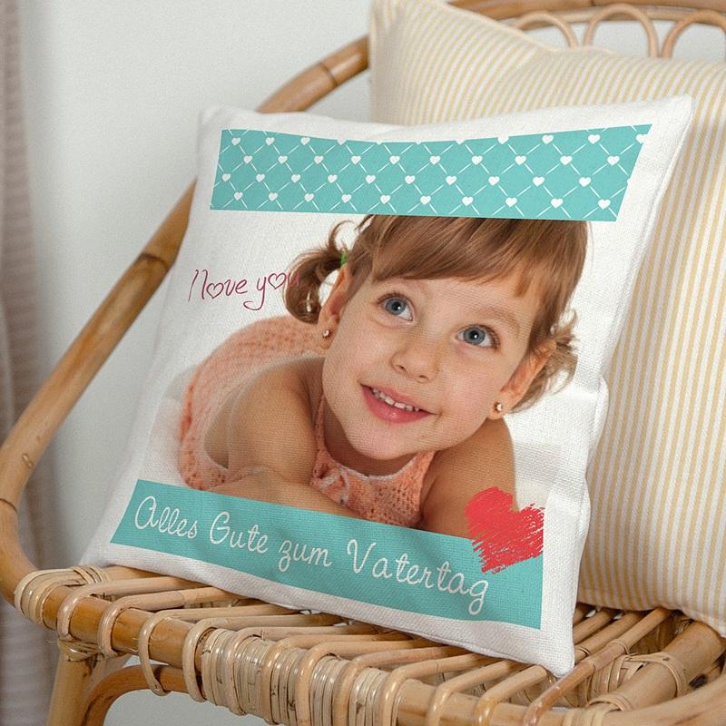 Personalisierte Foto-Kissen Kleines Herz