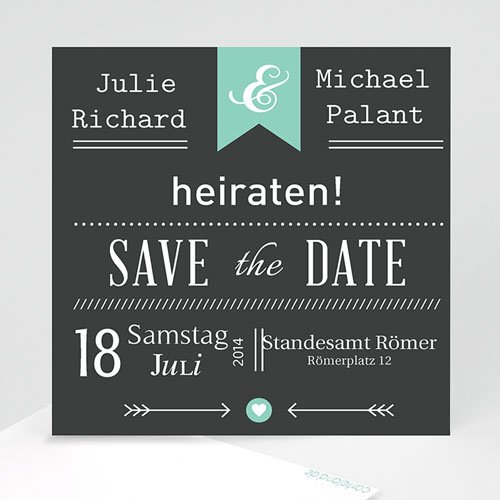 Save The Date  - Vintage Kreide 23772