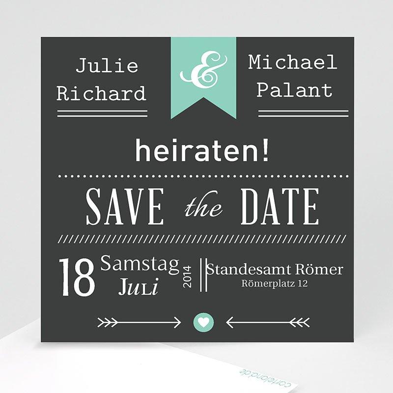 Save The Date Karten Hochzeit Vintage Kreide