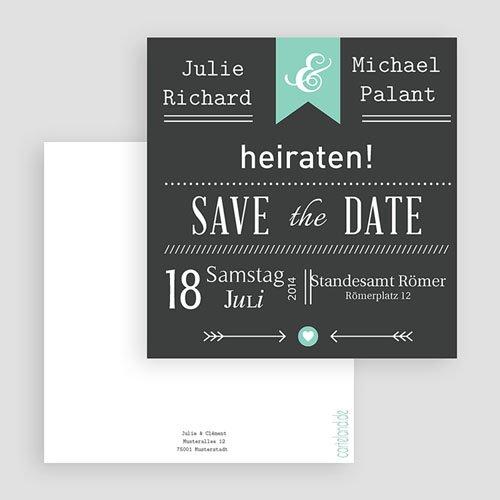 Save The Date Karten Hochzeit Vintage Kreide gratuit