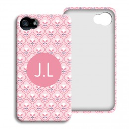 iPhone Cover NEU - Rosa Tapetenmuster - 1