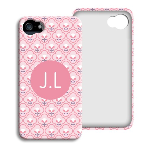 iPhone Cover NEU - Rosa Tapetenmuster 23785